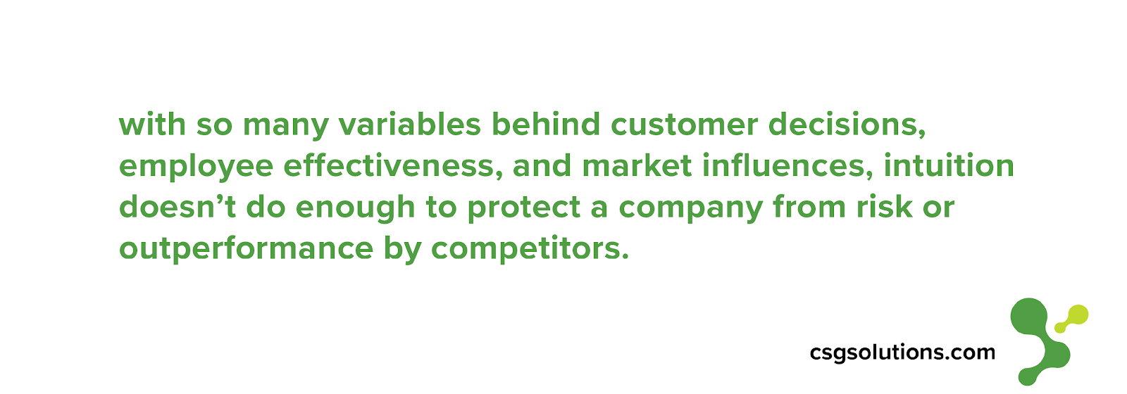 company risk and competitors